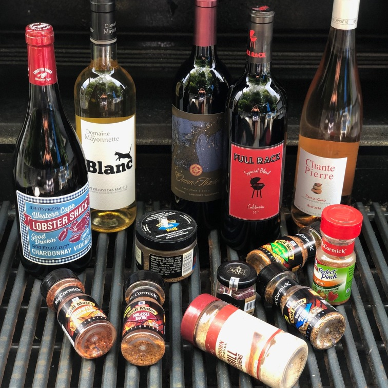 Wine and grilling spices